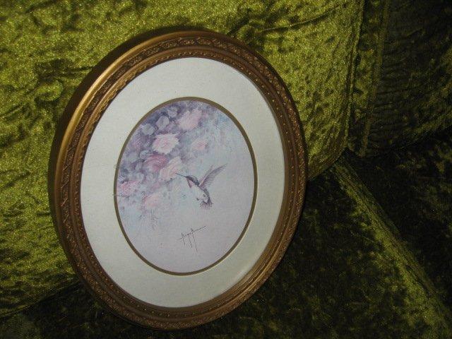 Image 1 of  Hummingbird print artist Marjie Morrow 13 inch X  10 inch