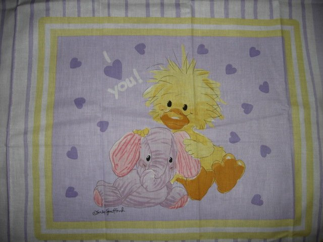 Suzy's Zoo Witzy Baby Elephant Pillow Panel Licensed fabric  to sew