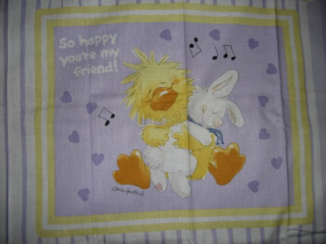 Image 0 of Suzy's Zoo Witzy Baby Bunny Pillow Panel Licensed fabric  to sew