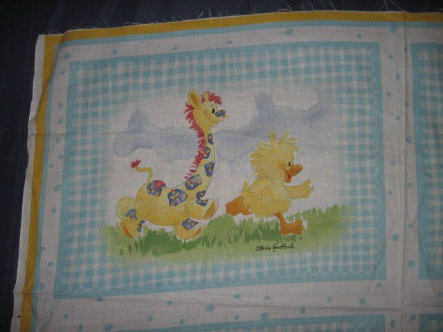Image 0 of Suzy's Zoo Witzy Baby Giraffe Pillow Panel Licensed fabric  to sew