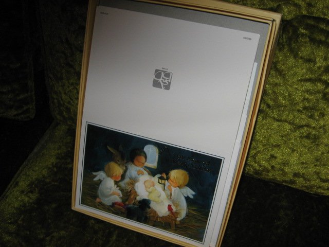 Image 0 of Angel baby Jesus Xmas fifteen cards per box set of two boxes with envelopes