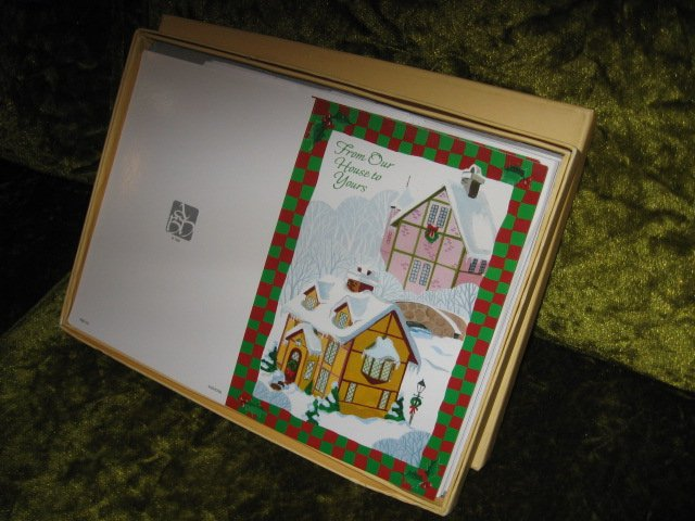 Image 0 of  House victorian xXmas 15 cards per box set of two boxes with envelopes