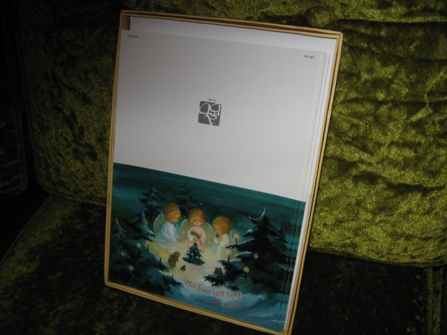 Image 0 of Angels adoration Xmas 15 cards per box set of two boxes with envelopes