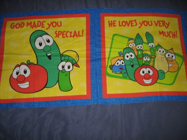 Veggie Tales  Fabric Pillow Panel to sew