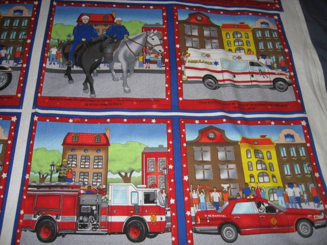Heros On Parade Fabric baby soft book to sew
