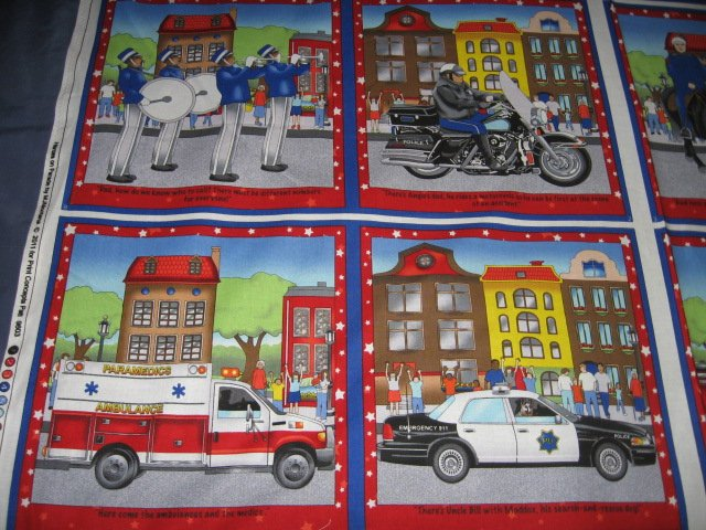 Image 1 of Heros On Parade Fabric baby soft book to sew