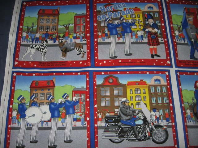 Image 2 of Heros On Parade Fabric baby soft book to sew