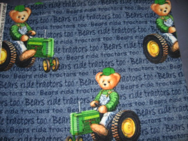 John Deere Tractor Doll blue Fleece Blanket 25 X 28