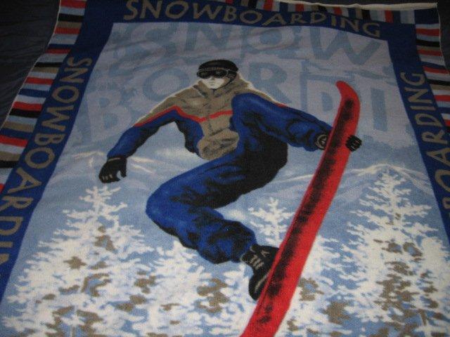 Image 0 of Snowboard Fleece blanket antipill handmade
