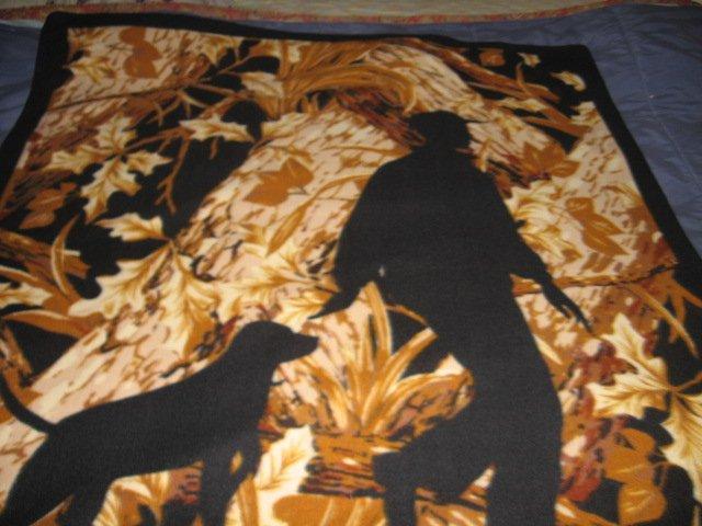 Image 0 of Labrador hunter woods Fleece blanket adult soper soft