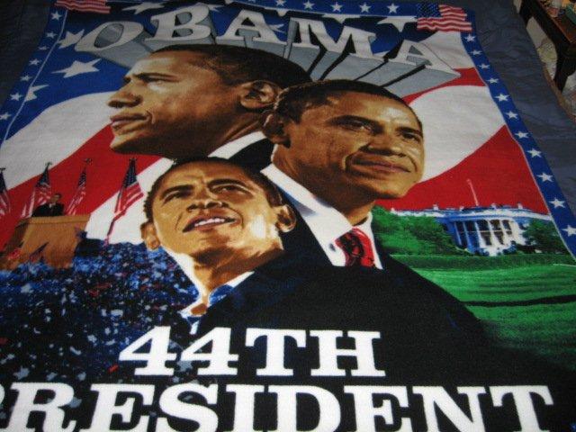 Image 0 of Obama President  Fleece blanket Antipill handmade Rare
