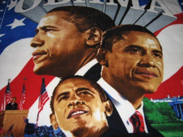 Image 1 of Obama President  Fleece blanket Antipill handmade Rare