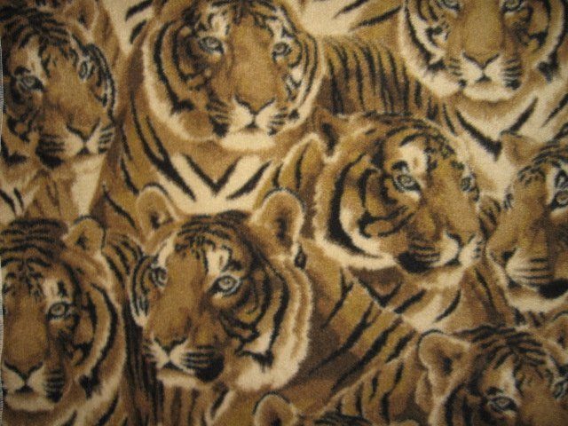 Image 0 of Tiger faces overall Fleece Blanket