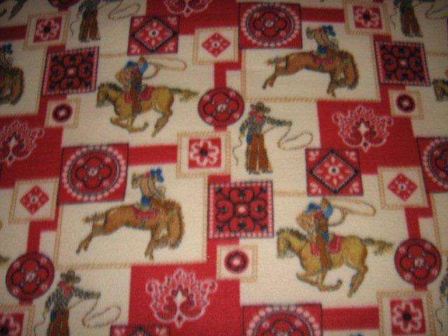 Image 0 of Horse lasso bronco boy western cowboy Fleece blanket throw