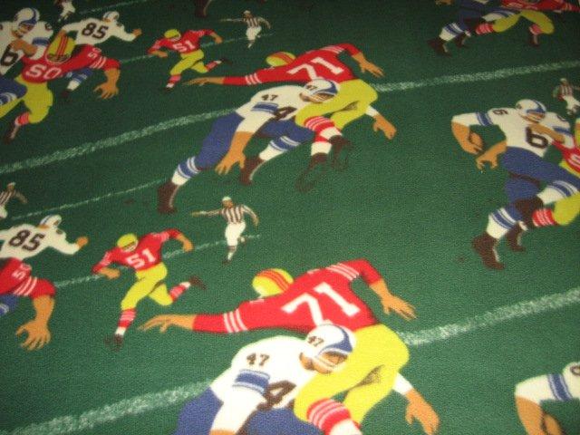 Image 0 of Football player number green fleece blanket rare