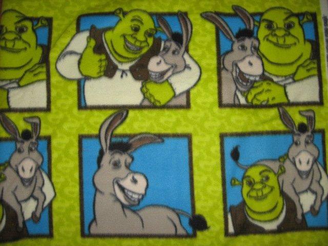 Image 0 of Shrek Donkey Fleece blanket 76 inch by 56 inch large bed size