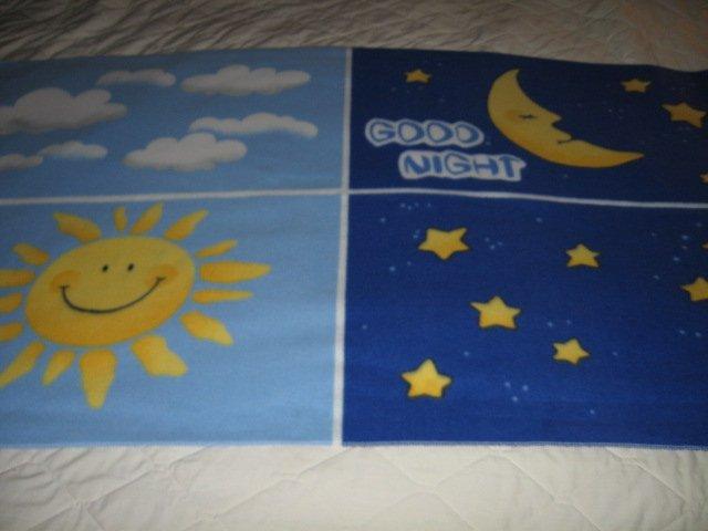 Image 2 of Good Morning Good Night Greeting  fleece blanket  Child  Antipill
