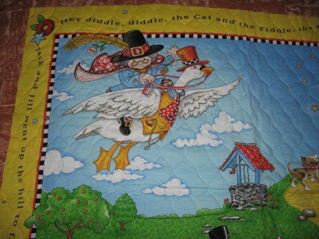 Nursery Rhyme mother goose mary Engelbreit crib quilt