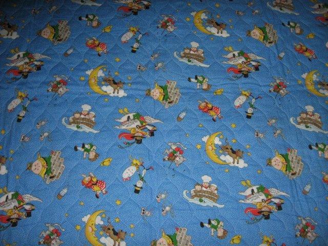 Image 2 of Nursery Rhyme mother goose mary Engelbreit crib quilt