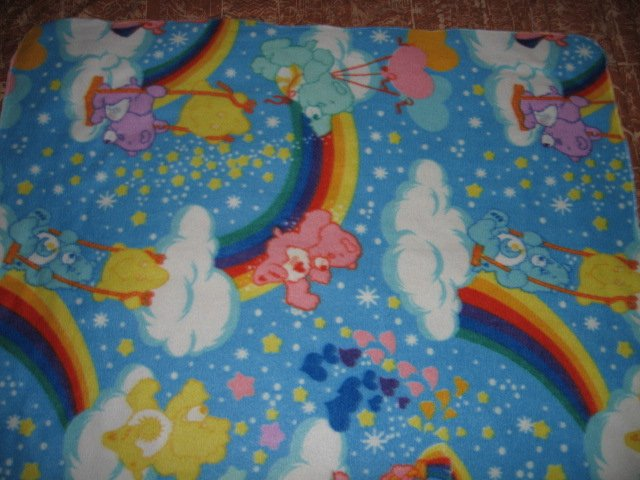 Care Bear  fleece toddler car seat blanket