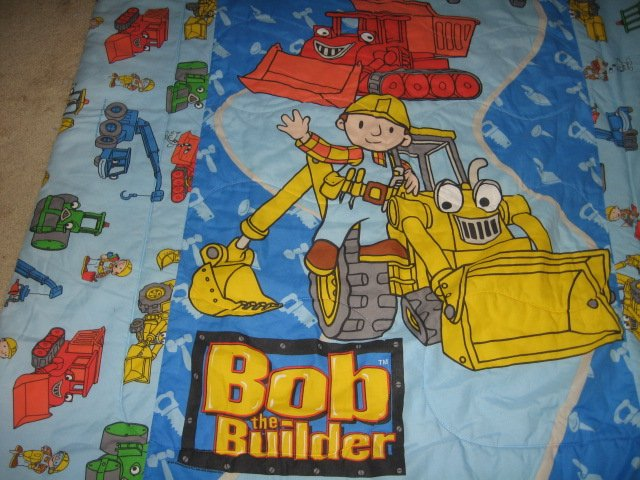 Bob the Builder toddler bedsize quilt out of print