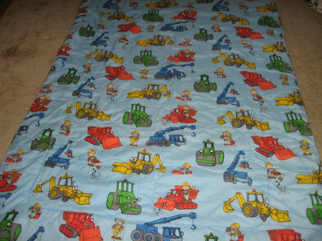 Image 1 of Bob the Builder toddler bedsize quilt out of print
