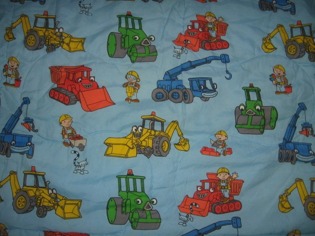 Image 2 of Bob the Builder toddler bedsize quilt out of print
