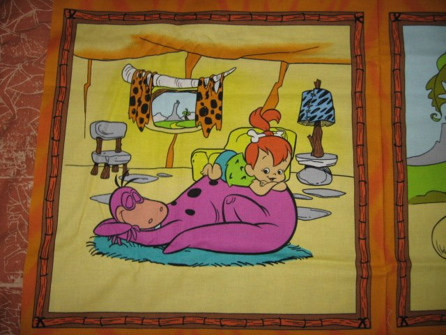 Image 4 of Flintstone family character Fabric Pillow Panel set of four