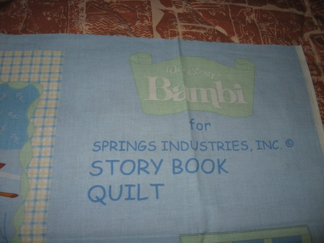 Image 0 of Disney Bambi deer faun Soft Book fabric Panel to sew /