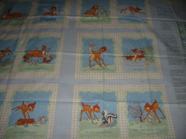 Image 1 of Disney Bambi deer faun Soft Book fabric Panel to sew /