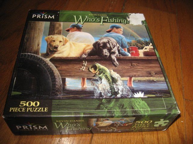 Fishing  Puzzle Kevin Daniel 500 piece 19 by 14