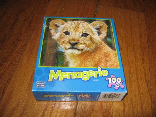 Image 0 of Lion Baby Menagerie 100 piece Puzzle 9 inch by 10  inch