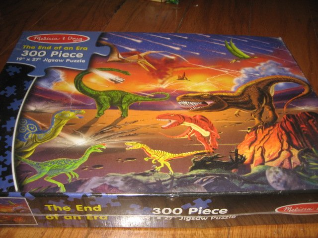 Image 0 of Dinosauer 300 piece  Puzzle 19 by 27 Melissa and Doug