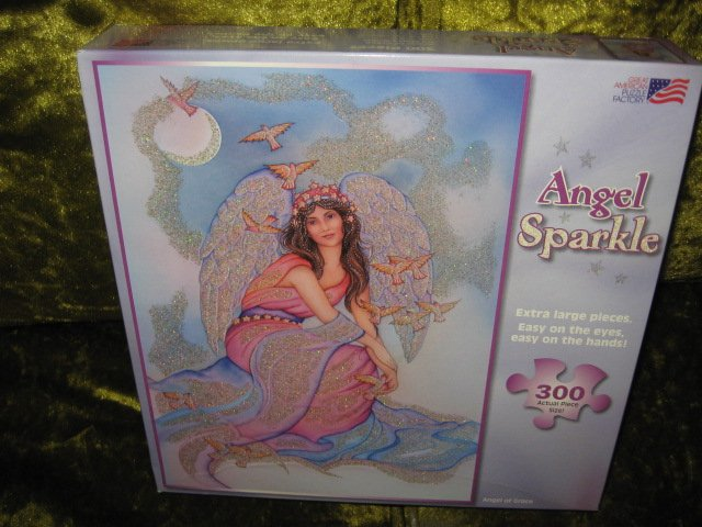 Angel Grace Sparkle Mary Noble  300 large piece Puzzle  19 by 26