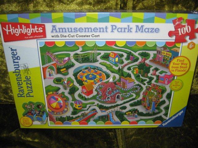 Amusement park maze Ravensburger Puzzle  19 by 14 inch