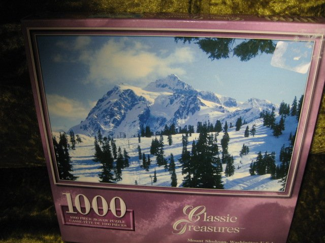 Image 0 of Mount Shuksan Washington 1000 piece Puzzle  19 by 28 inch
