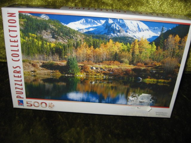 Image 1 of Pond Mountain 500 piece puzzler collection Puzzle 18 in by 11 in