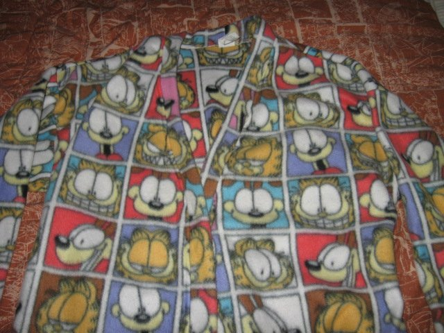 Image 0 of Garfield fleece large tall bathrobe