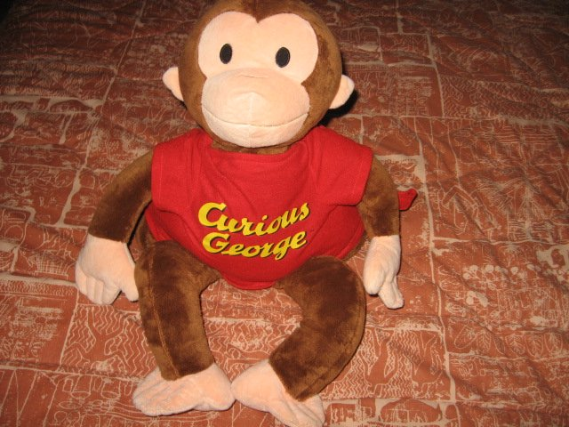 Curious George Stuffed 23 inch Doll & Blanket Zoobies 70th Anniversary
