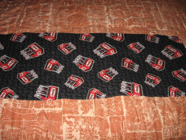 Image 1 of coca cola six pack bottles  logo 100% Cotton Flannel 36 inch piece RARE