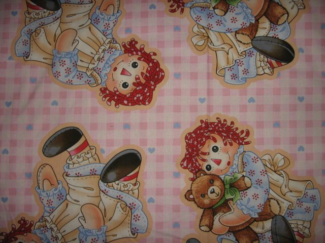 Raggeddy Ann make two dolls fabric with directions