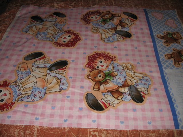 Image 1 of Raggeddy Ann make two dolls fabric with directions