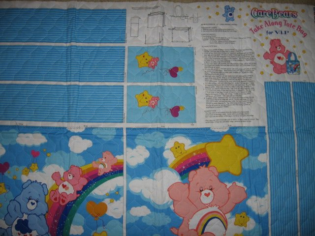 Image 0 of Care Bears Rainbow Take Along Tote Bag quilt fabric you sew directions