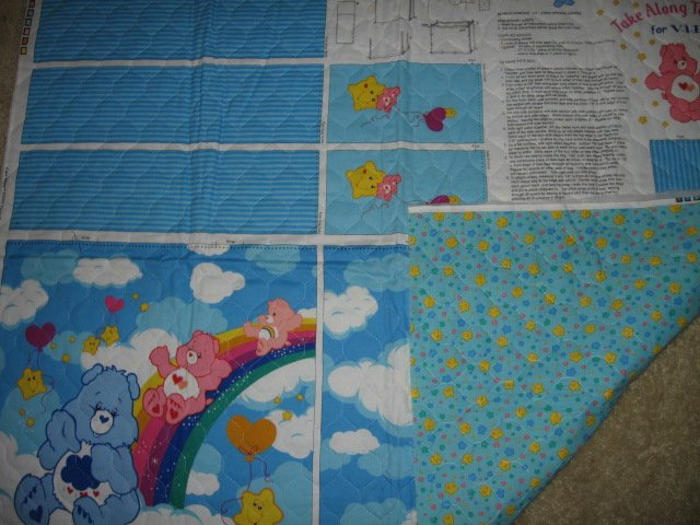 Image 1 of Care Bears Rainbow Take Along Tote Bag quilt fabric you sew directions