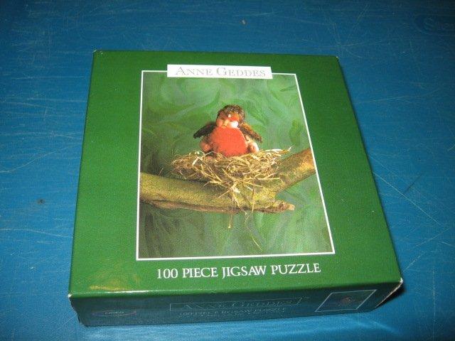 Baby  bird nest 100 pc sealed Puzzle Anne Geddes artist NIB
