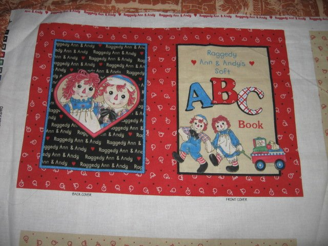Andy and Raggedy Ann Soft ABC book