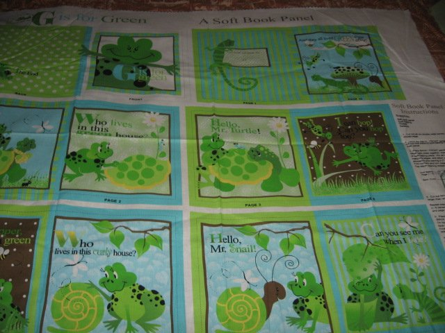 G is for green child soft book reader to sew