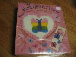 Betty's butterflys and hearts activity set new in box mint latch hook and more
