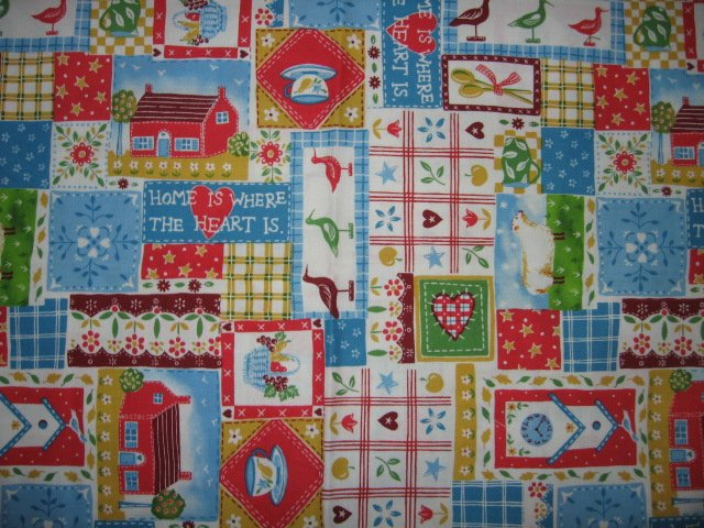 home is where the heart is  fat quarter cotton fabric