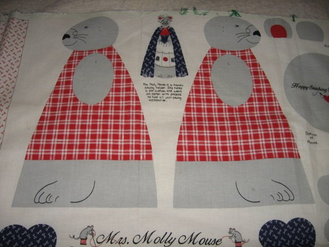 Molly Mouse sewing helper apron